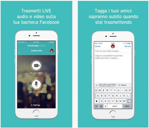 App: Streamago Social, ecco lo streaming in diretta su Facebook