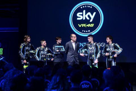 Bulega, Migno, Bagnaia e Manzi, lo Sky Racing Team VR46 pronto alla stagione 2017