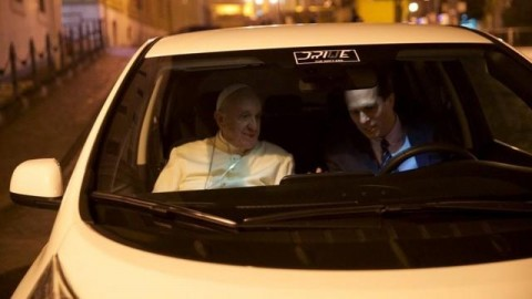 In auto per Roma con Papa Francesco