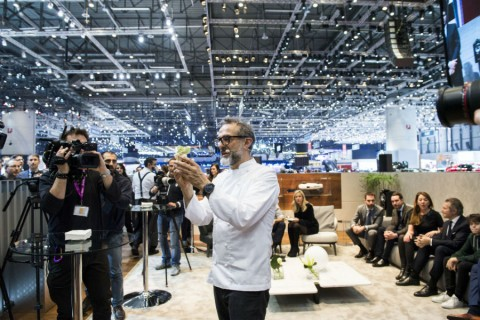Maserati al Salone di Ginevra 2017 con lo chef Massimo Bottura