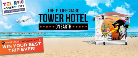 In Israele la torretta del bagnino diventa albergo di lusso: vinci il concorso per andare a Tel Aviv