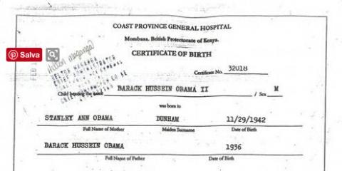 """Malik Obama: """"Ecco il certificato di nascita di mio fratello, è nato in Kenya"""""""